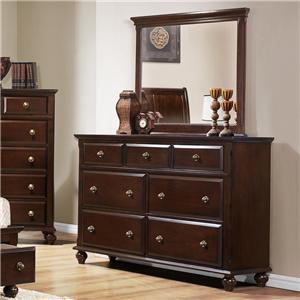 Crown Mark Portsmouth B6075 Dresser and Mirror Set