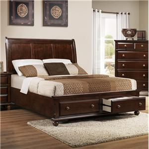 Crown Mark Portsmouth B6075 Queen Panel Bed