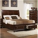 Crown Mark Portsmouth B6075 King Panel Bed - Item Number: B6075-K-HB+FBD+RAIL