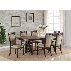 Crown Mark Pryce 7 Piece Table and Chair Set