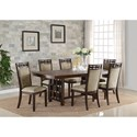 Crown Mark Pryce 7 Piece Table and Chair Set - Item Number: 2375T-4286-TOP+LEG+6x2375S