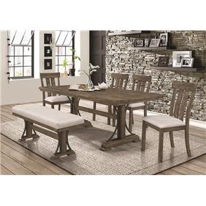 5 Piece Dining Set Includes Table And 4 Side