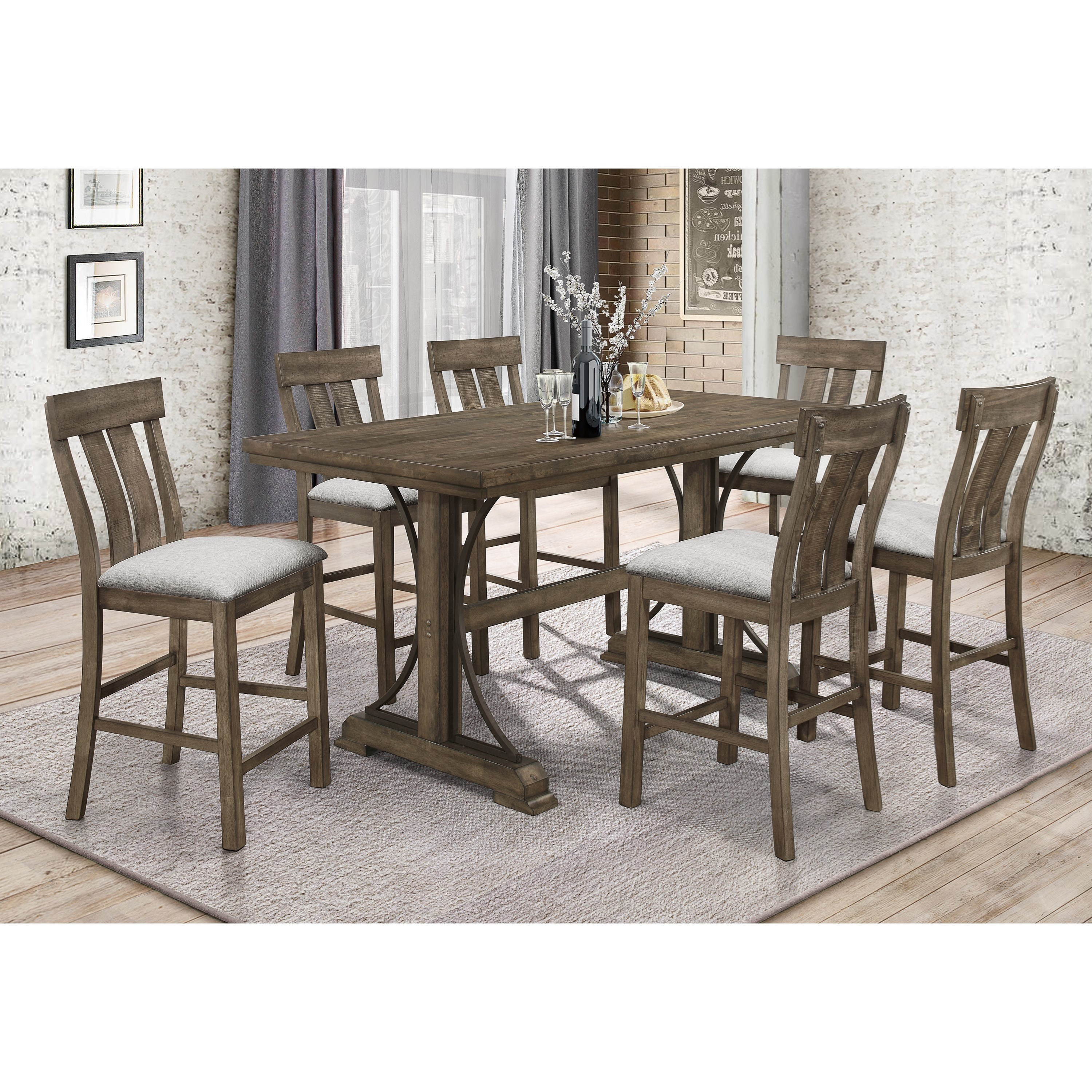 Crown Mark Quincy Counter Height Dining Set Royal Furniture