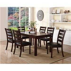 Crown Mark Quinn 7 Piece Table and Chair Set