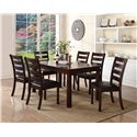 Crown Mark Quinn 7 Piece Table and Chair Set - Item Number: 2164-3864+6xS