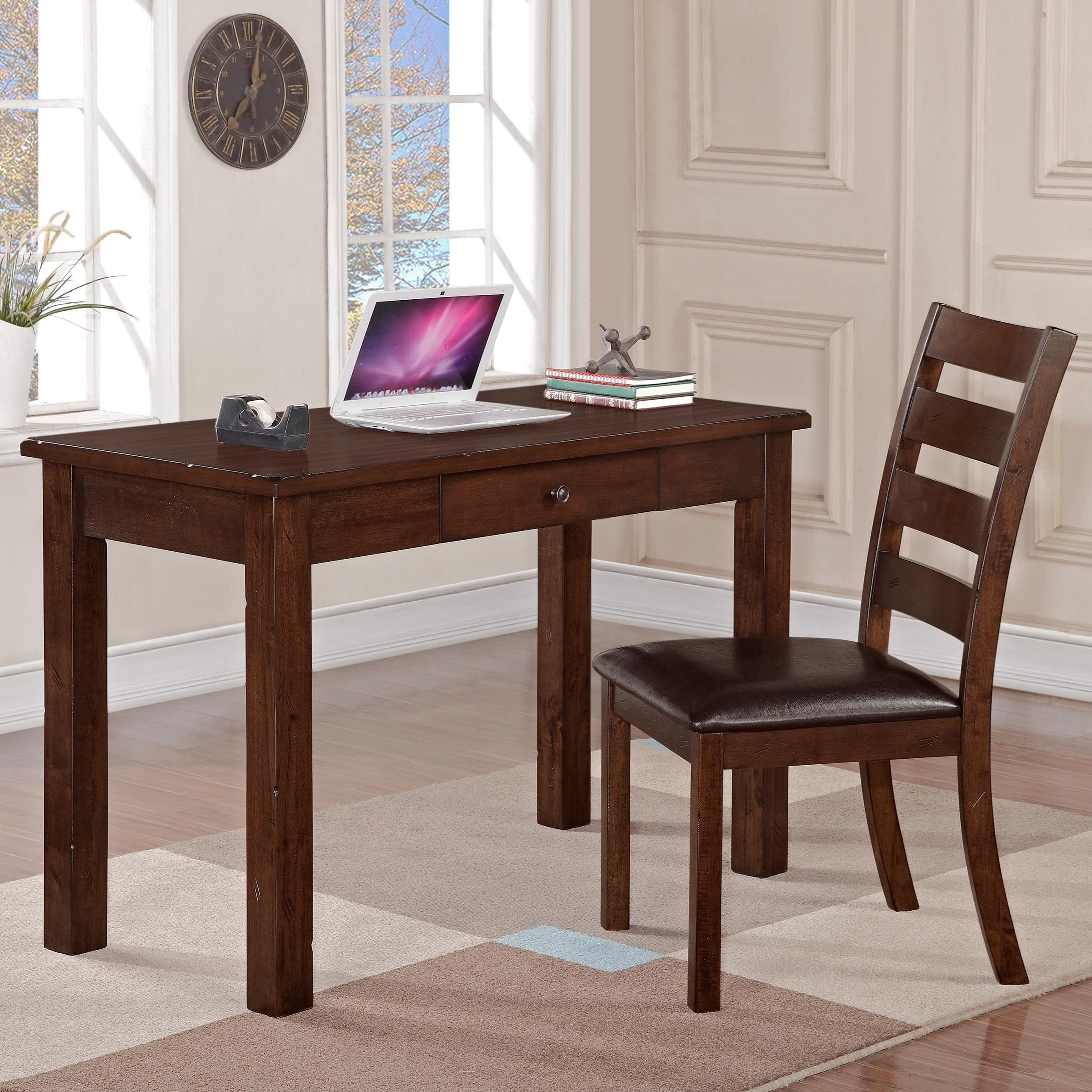 Crown Mark Quinn Desk and Side Chair Set - Item Number: 5164SET