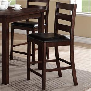 Coaster Lavon Casual Lattice Back Counter Height Stool