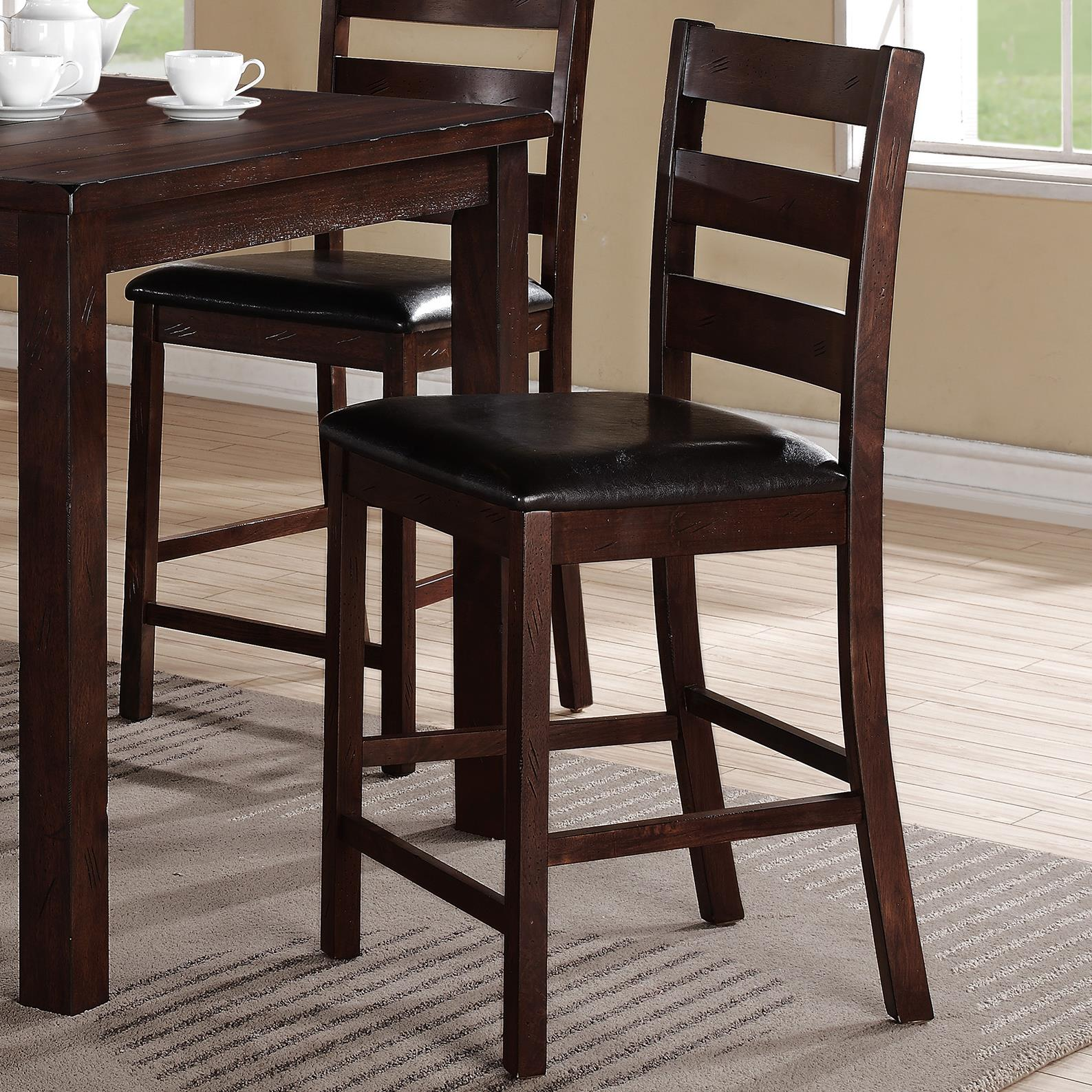 Crown Mark Quinn 5 Piece Counter Height Table Set With