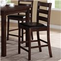 CM Quinn 5 Piece Counter Height Table Set with Ladderback Side Chairs