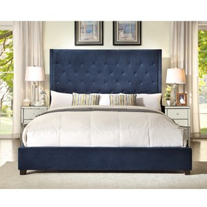 Crown Mark Reese Upholstered Bed