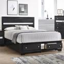 Crown Mark Regata King Storage Bed - Item Number: B4670-K-HBFB+RAIL+KQ-DRW