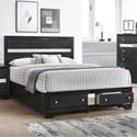 Crown Mark Regata Queen Storage Bed - Item Number: B4670-Q-HBFB+RAIL+KQ-DRW