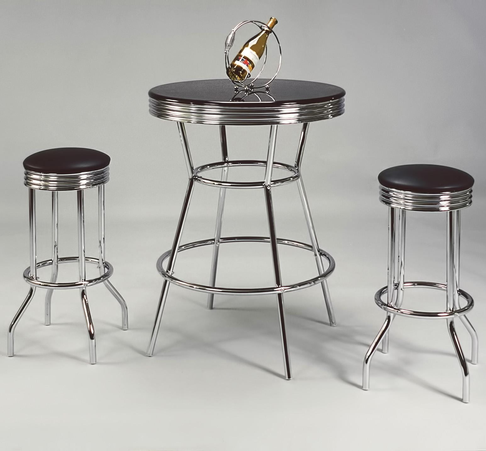 Crown Mark Retro 3 Piece Bar Table Set - Item Number: 3905SET