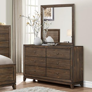 Crown Mark Rhone Dresser and Mirror Set