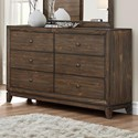 Crown Mark Rhone Dresser with Clean Lines