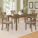 Crown Mark Clara 5 Piece Table and Chairs Set - Item Number: 2321WT-SET