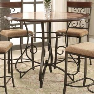 Crown Mark Sarah Counter Height Table - Item Number: 2811T-45-LEG+TOP