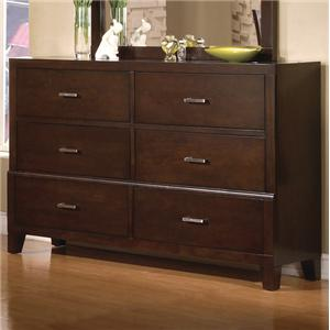 Crown Mark Serena 6 Drawer Dresser
