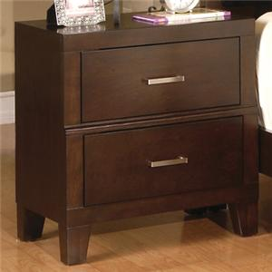 Crown Mark Serena 2 Drawer Night Stand