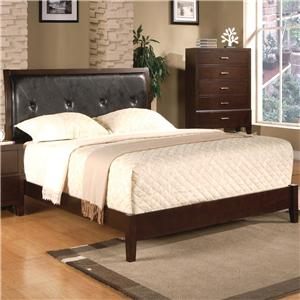 Crown Mark Serena Queen Upholstered Platform Bed