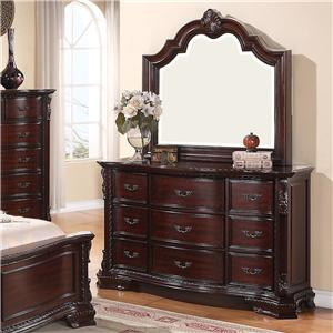 Crown Mark Sheffield Dresser and Mirror Set