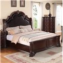 Crown Mark Sheffield Queen Panel Bed - Item Number: B1100-Q-HB+FB+RAIL