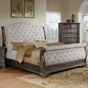 Crown Mark Sheffield Upholstered Queen Bed