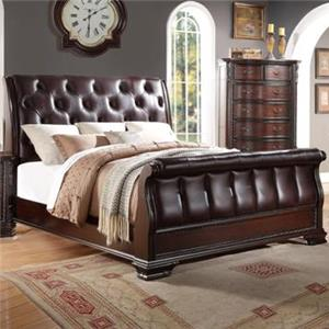 Crown Mark Sheffield Queen Sleigh Bed