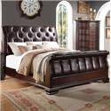 Crown Mark Sheffield Upholstered King Sleigh Bed - Bed Shown May Not Represent Size Indicated