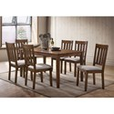 Crown Mark Juno 7 Piece Table and Chair Set - Item Number: 2245T-3659+6xS