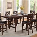 Crown Mark Sierra Transitional Counter Height Table