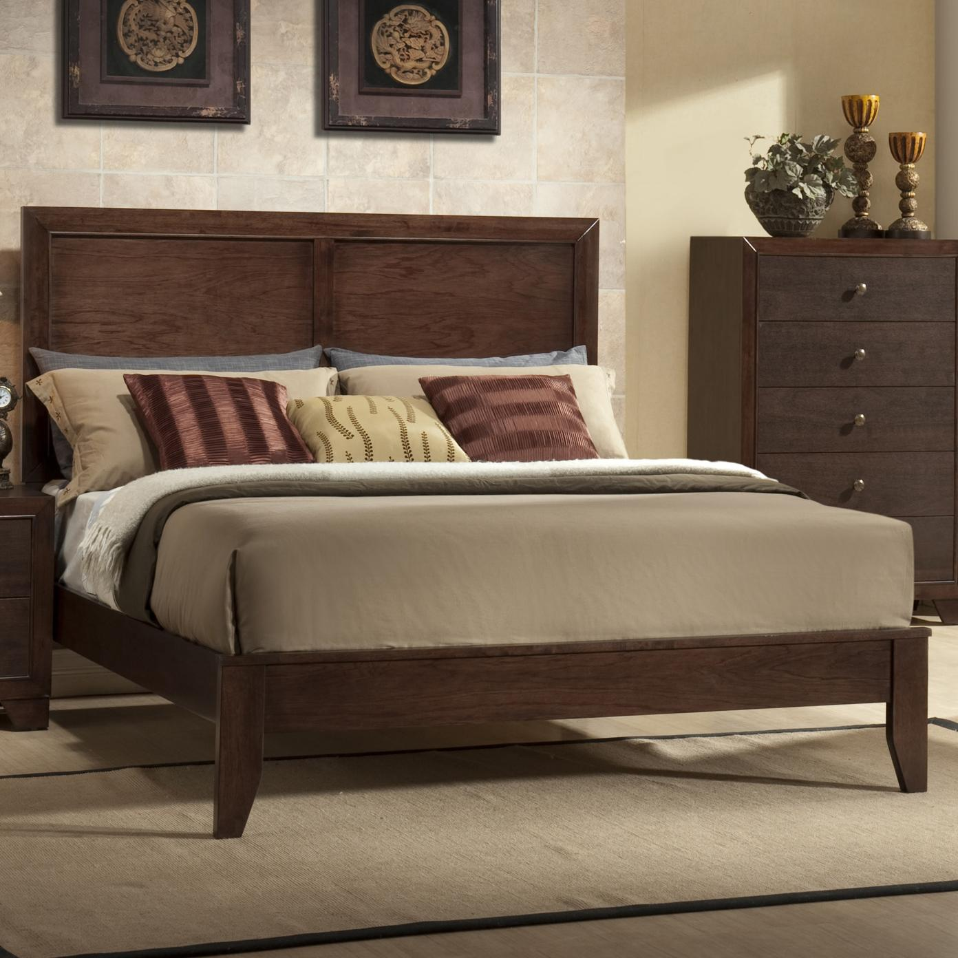 Crown Mark Silvia Queen Low Profile Bed - Item Number: B4600-Q-HBFB+RAIL