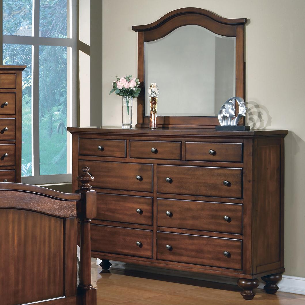 Crown Mark Sommer 9 Drawer Dresser with Mirror Combination - Item Number: B1301+B1301-1