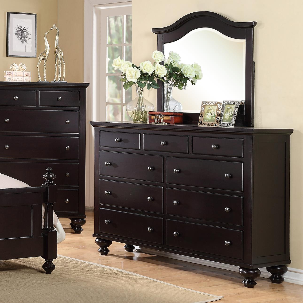 Crown Mark Sommer 9 Drawer Dresser with Mirror Combination - Item Number: B1350-1+ B1350-11
