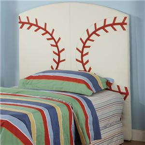 Crown Mark Sport Themed Twin Baseball Headboard