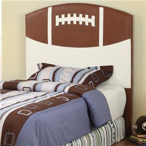 Crown Mark Sport Themed Twin Football Headboard