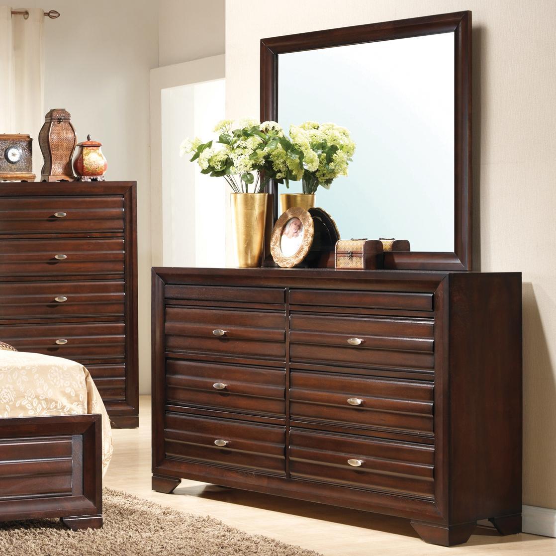 Crown Mark Stella Dresser & Mirror - Item Number: B4500-1+11
