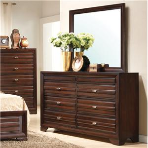 Crown Mark Stella Dresser & Mirror