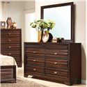 Crown Mark Stella Rectangular Framed Dresser Mirror - Shown with Dresser
