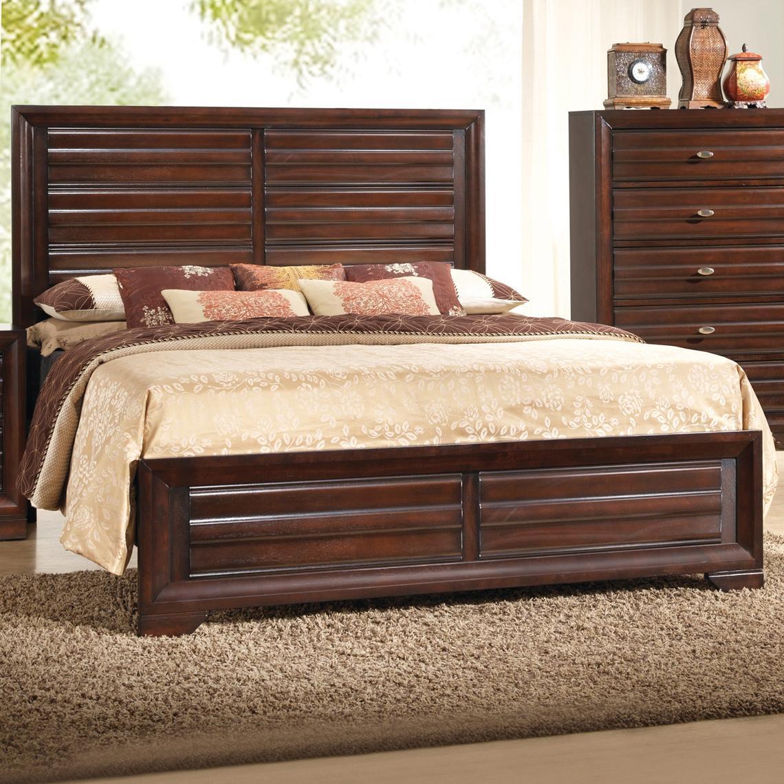 Crown Mark Stella King Headboard & Footboard Bed - Item Number: B4500-K-HBFB+RAIL