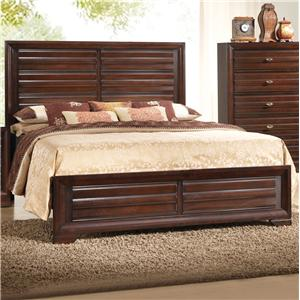 Crown Mark Stella Queen Headboard & Footboard Bed