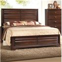 Crown Mark Stella Queen Panel Headboard & Footboard Bed - Bed Shown May Not Represent Size Indicated