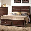 Crown Mark Stella Queen Storage Bed - Item Number: B4550-Q-HBFB+RAIL+FDR