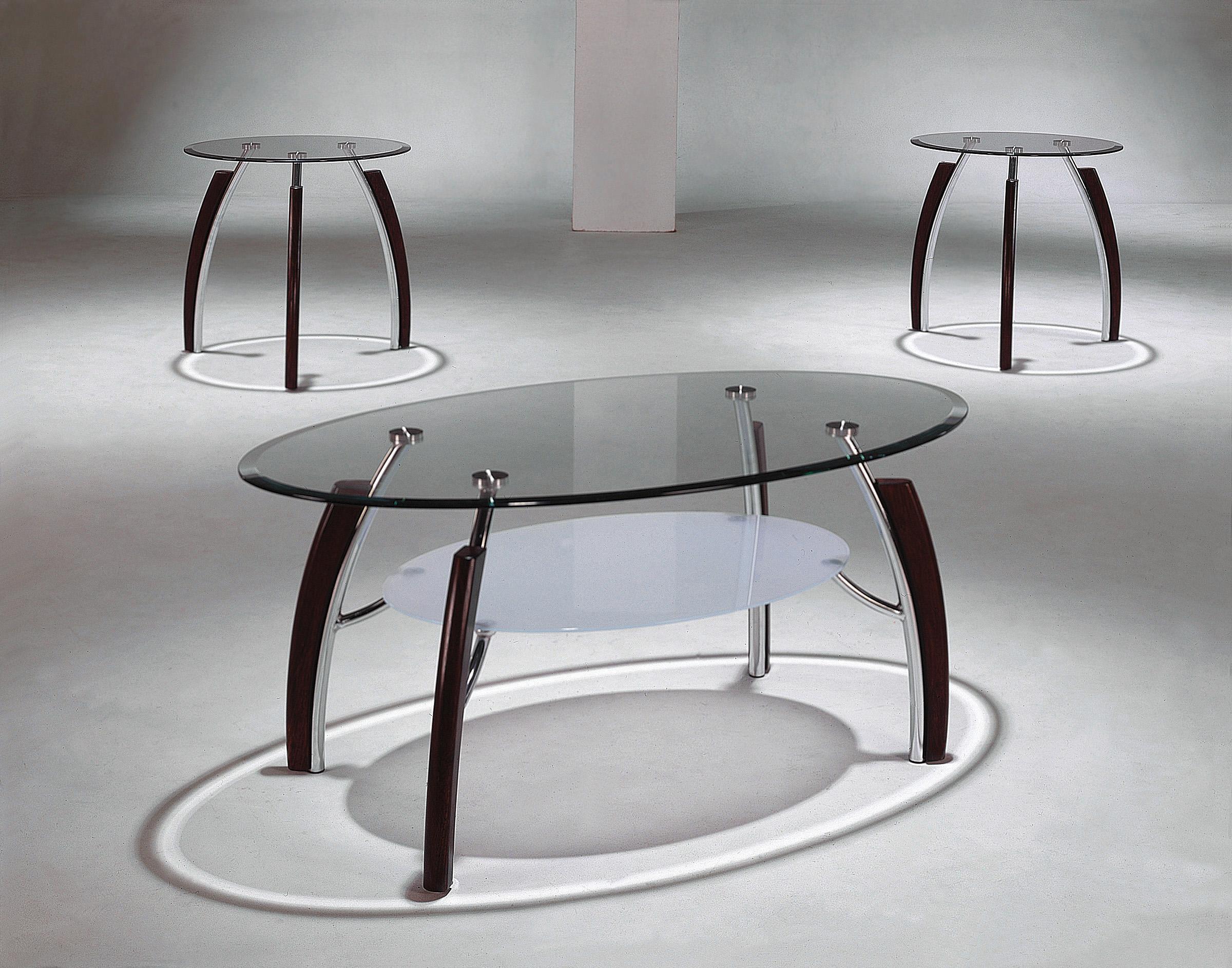 Crown Mark Stellar 3 Pack Occasional Table Set - Item Number: 3636-BASE+GL