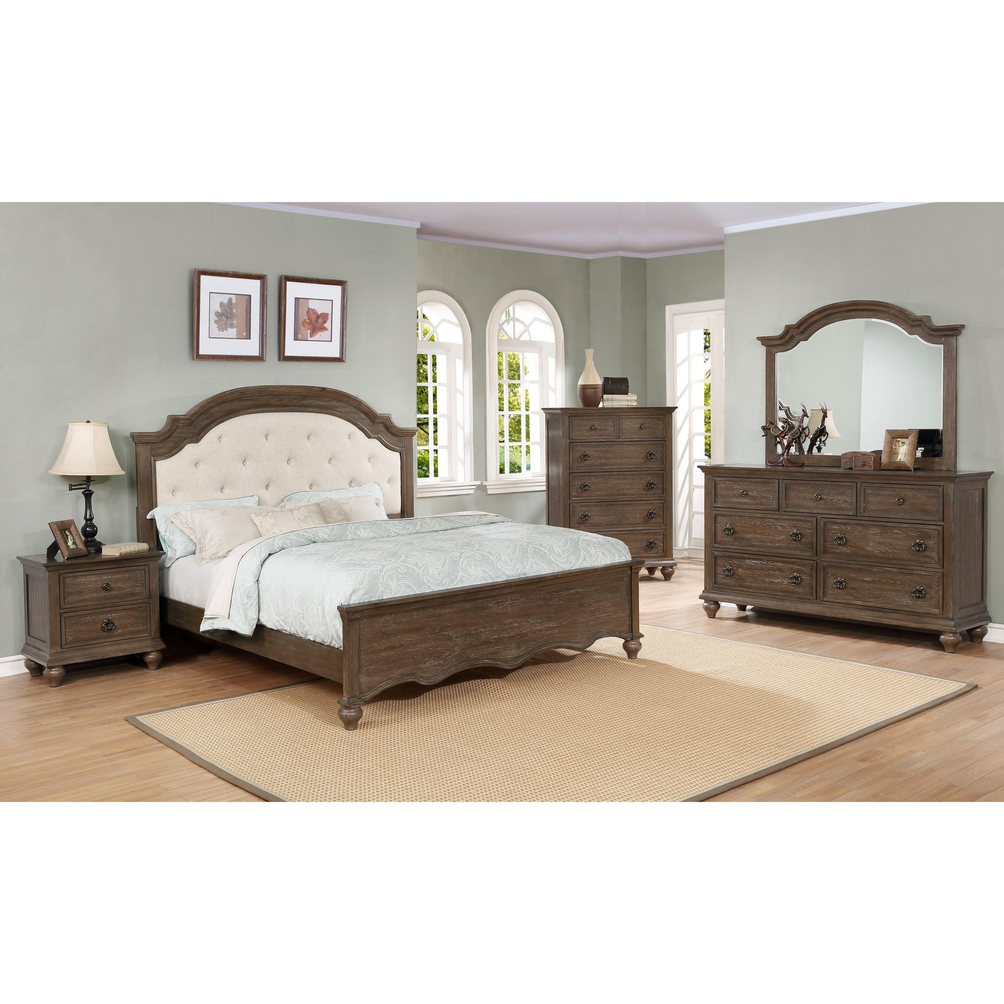 Crown Mark Farrow Queen Bedroom Group: Crown Mark Tafton King Bedroom Group
