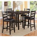 Crown Mark Tahoe 5 Piece Counter Height Table and Chairs Set - Item Number: 2630Set
