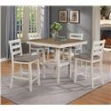 Crown Mark Tahoe 5 Piece Counter Height Table and Chairs Set - Item Number: D18263-P5PK