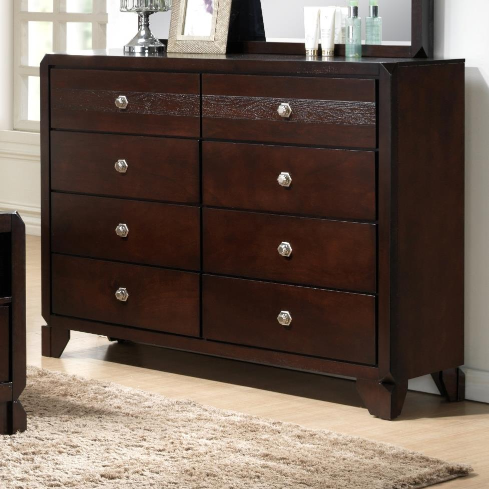 Levitz Home Furnishings: Crown Mark Tamblin B6850-1 Dresser With Clipped Corners