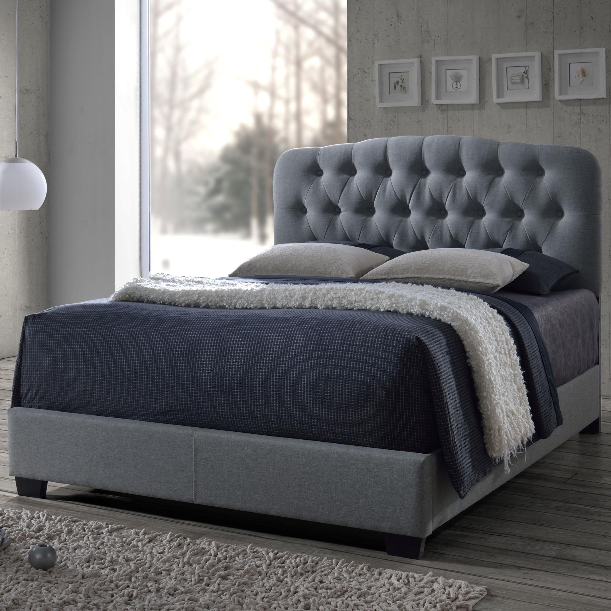 Crown Mark Tilda Queen Upholstered Bed - Item Number: 5274-Q-HB+Q-FBRL