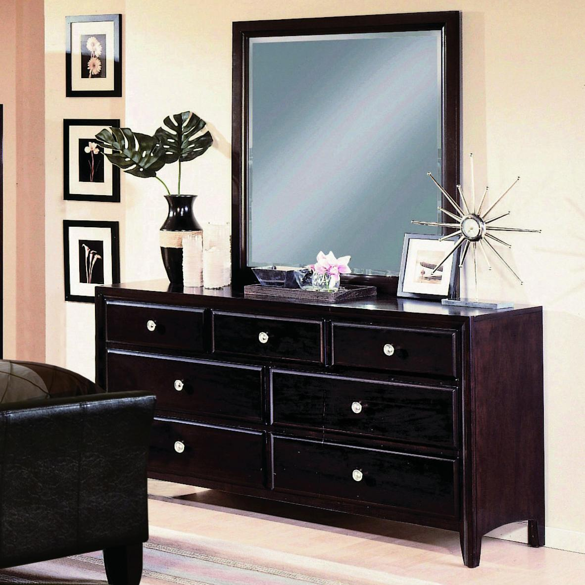 Crown Mark Tomas Dresser and Mirror Combo - Item Number: B6201+B6201-1